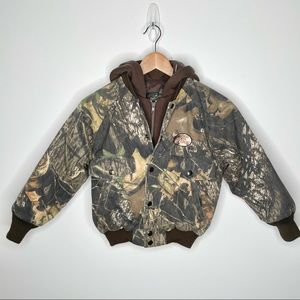 Redhead Bass Pro Shops Camouflage Insulated Boys/Girls Youth Coat Size S